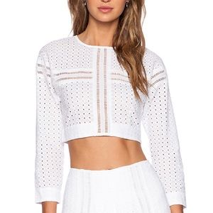 Alice McCall Stopper Eyelet Crop Top White 6